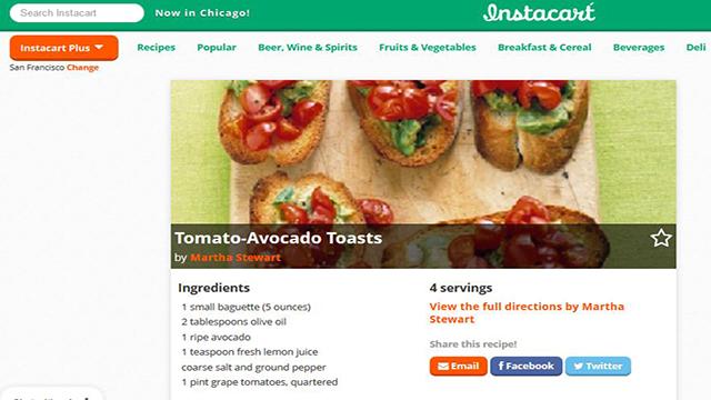 Instacart - Grocery delivery in San Francisco Bay Area, New York City, Chicago, Boston, Washington D.C., Philadelphia & Los Angeles